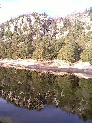Crystal Lake reflecting trees